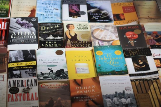 booksale books laid out